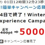 14日で終了!ポイントインカムで「Winter driving experience Campaign」に応募するだけで500円報酬がもらえる!