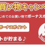 ポイントインカム「はじめてのお買い物キャンペーン」!