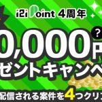i2iポイントで全員に10,000円分プレゼントキャンペーンが開催中!!