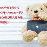 WOWOW見るだけで4,000円+500円が貰える方法【期間限定】